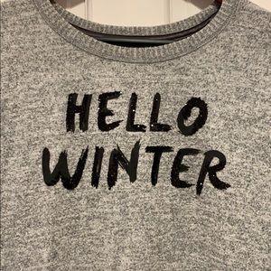 """A&F Heathered grey """"sleep"""" shirt"""